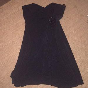 White House Black Market corset strapless dress